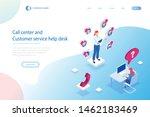 isometric communication support ...   Shutterstock .eps vector #1462183469