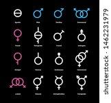 gender flat color icons set.... | Shutterstock .eps vector #1462231979