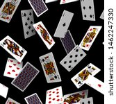 falling playing cards seamless... | Shutterstock . vector #1462247330