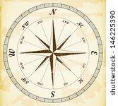 vintage  wind rose  eps10... | Shutterstock .eps vector #146225390