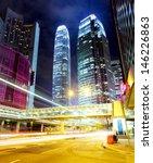 traffic in city at night   Shutterstock . vector #146226863