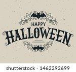 happy halloween vector...   Shutterstock .eps vector #1462292699