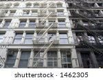 soho new york fire escapes | Shutterstock . vector #1462305