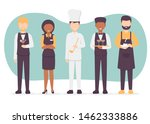 restaurant team set. chef cook  ... | Shutterstock .eps vector #1462333886