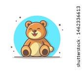 Cute Teddy Bear Vector Icon...