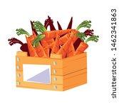 fresh vegetable carrots in... | Shutterstock .eps vector #1462341863