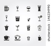 drink icons | Shutterstock .eps vector #146234990