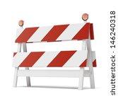 Roadblock Isolated On White...