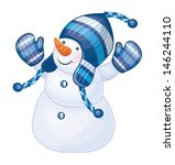 vector of fun snowman isolated. | Shutterstock .eps vector #146244110