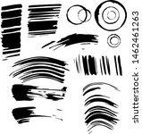 set of imprints of ink. black... | Shutterstock . vector #1462461263