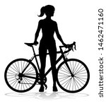 a woman bicycle riding bike... | Shutterstock . vector #1462471160
