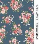 floral  flower seamless vector... | Shutterstock .eps vector #146247578