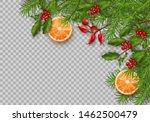 christmas vector spruce border. ... | Shutterstock .eps vector #1462500479