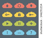 flat clouds icon set. vector...