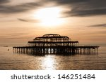 The West Pier At Sunset ...