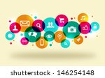 social media icons set in... | Shutterstock . vector #146254148