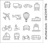 set icon transportation  icon... | Shutterstock .eps vector #1462549796