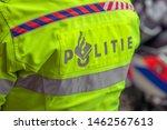 Backside Logo Of A Police Motor ...