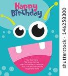 monster party card design....   Shutterstock .eps vector #146258300