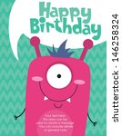 alien,animal,baby,beast,birthday,boy,card,celebration,cheerful,child,colorful,cool,cute,cyclops,design