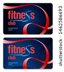 fitness club membership cards... | Shutterstock .eps vector #1462586693
