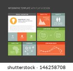vector flat user interface  ui  ... | Shutterstock .eps vector #146258708