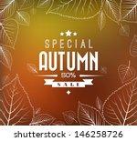 Autumn Sale Vector Retro Poster ...
