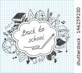 school background of school... | Shutterstock .eps vector #146259230