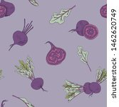 seamless food pattern with beet ... | Shutterstock .eps vector #1462620749