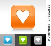 heart icon. blue  orange  green ...
