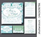 wedding invitation card with...   Shutterstock .eps vector #1462658786