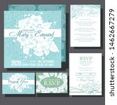 wedding invitation card with...   Shutterstock .eps vector #1462667279