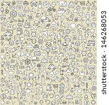 xxl doodle icons set no.4 for... | Shutterstock .eps vector #146268053