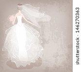 bride in wedding dress on... | Shutterstock .eps vector #146270363