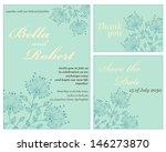 set of wedding or invitation... | Shutterstock .eps vector #146273870