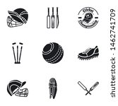 cricket equipment icon set.... | Shutterstock .eps vector #1462741709