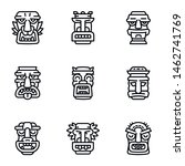 outline ancient icons set.... | Shutterstock .eps vector #1462741769