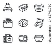 lunch box icon set. outline set ... | Shutterstock .eps vector #1462741790
