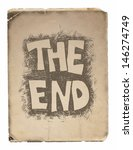 the end. hand drawn.  vector... | Shutterstock .eps vector #146274749