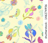 vintage floral seamless pattern ... | Shutterstock . vector #146274956