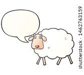 cartoon sheep with speech... | Shutterstock . vector #1462763159