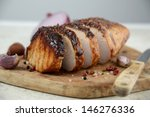 cooked pork loin roast with... | Shutterstock . vector #146276336