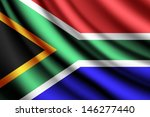 Waving Flag Of South Africa ...