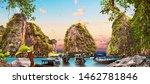 scenery thailand sea and island ... | Shutterstock . vector #1462781846