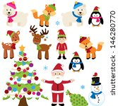 vector christmas woodland and... | Shutterstock .eps vector #146280770