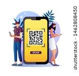 qr code scanning illustration...