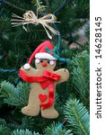 gingerbread man ornament - stock photo
