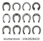 horseshoe icon set  luck and... | Shutterstock .eps vector #1462828610