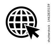 globe go to web icon... | Shutterstock .eps vector #1462835159