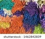 closeup fabric colorful texture....   Shutterstock . vector #1462842839